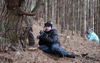 Vaiku gimtadienis gamtoje ziema
