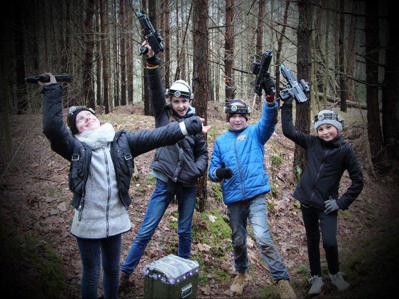 Agnės gimtadienis su LaserTag'u miške