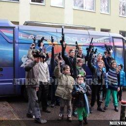 Laser Tag žaidimo įranga - Party Bus