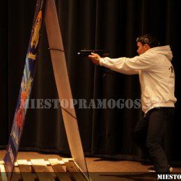 Aktyvių pramogų su Laser Tag pristatymas Litexpo parodų rūmuose