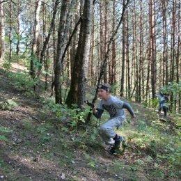 Gimtadienis švenčiamas su lazeriais miške. Antakalnis, Vilnius.