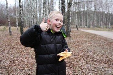 Dovydo 10-asis gimtadienis vėlyvą rudenį gamtoje