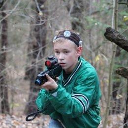 Gimtadienis su lazeriais gamtoje. Ruduo, vaikai su Laser Tag įranga. Antakalnis, Vilnius.