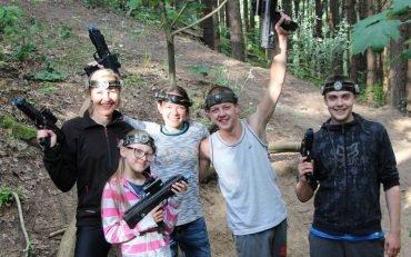 Sauliaus gimtadienis su Laser Tag Antakalnio miškuose