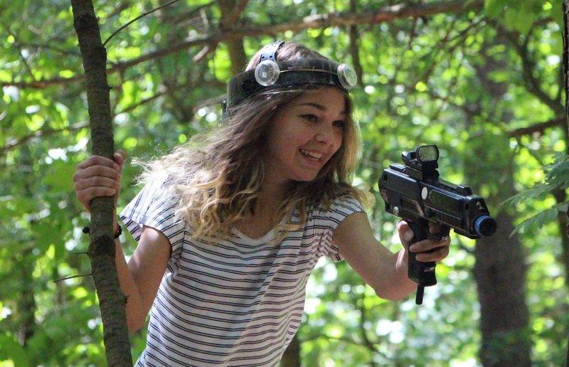 Kamilės 13-asis gimtadienis su LaserTag'u