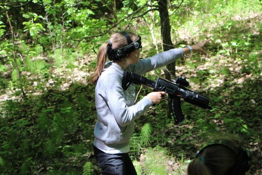 Beno 11-asis gimtadienis pramogaujant su Laser Tag miške
